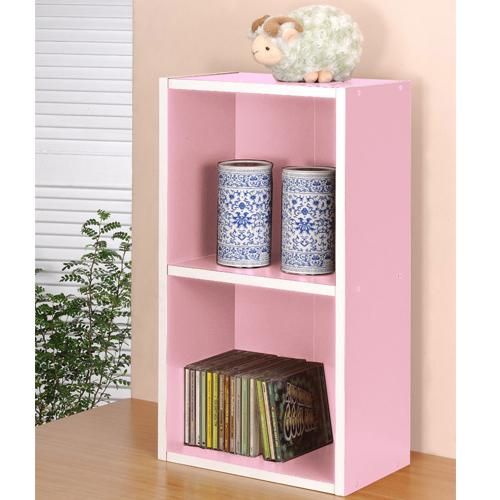二格櫃-粉紅色       【愛買】