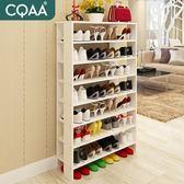 聖誕節 白色木頭鞋架經濟型家用家里人現代簡約鞋架高多層簡易大容量 小巨蛋之家