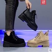 馬丁靴女春秋單靴潮ins厚底內增高2020年新款英倫風秋季短靴子女  聖誕節免運
