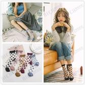 透明襪子女中筒襪薄款日系夏季可愛圓點玻璃絲短襪ins潮百搭夏天