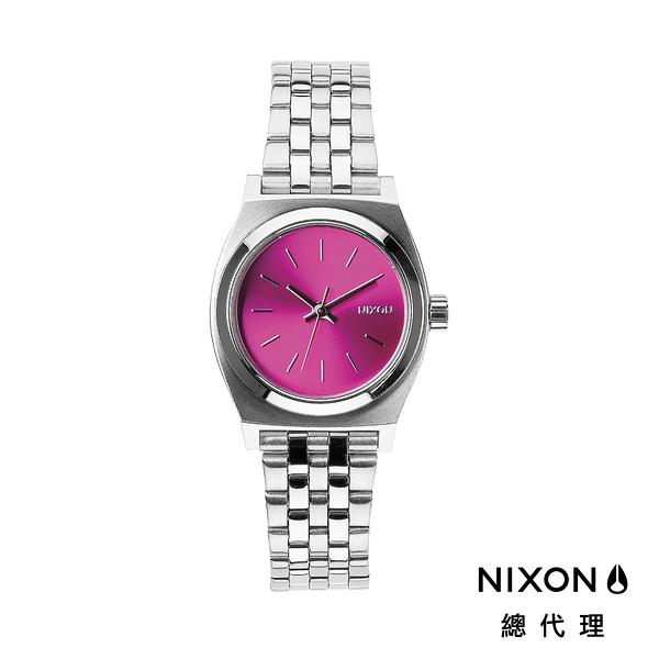 【官方旗艦店】NIXON SMALL TIME TELLER 極簡迷你錶款 櫻花銀 潮人裝備 潮人態度 禮物首選