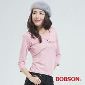 BOBSON 短罩衫.仿兩件式上衣(粉紅色65076-12)