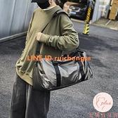 健身包大容量短途學生行李包簡約斜挎手提健身包【大碼百分百】