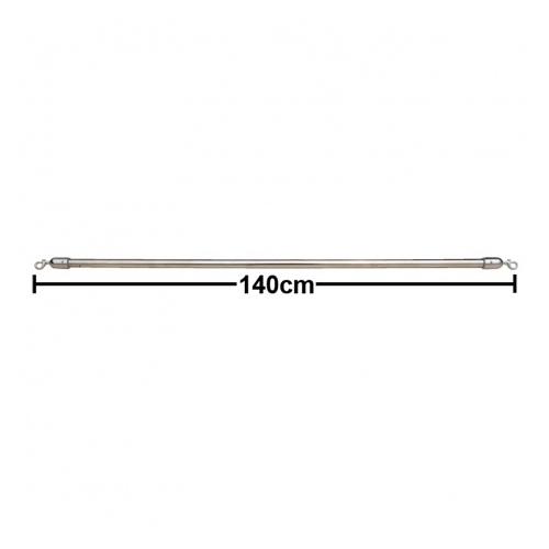 活動隔屏Cafe' Barrier系列 隔屏橫桿(短) 140cm 銀色 / 支 BS-140