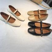 低跟鞋瑪麗珍單鞋女春秋款方頭平底奶奶鞋lolita低跟溫柔晚晚鞋仙女 唯伊時尚