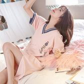 睡衣女夏季短袖純棉大碼韓版清新可愛學生可外穿夏天吊帶性感睡裙 愛麗絲精品