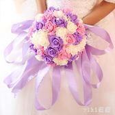 VIKI-新娘仿真玫瑰手捧花 結婚花球婚紗照拍攝道具 婚禮花束 婚慶用品 nm4194 【VIKI菈菈】