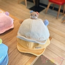 寶寶帽子秋冬款鴨舌帽韓版可愛小熊帽子【聚可愛】