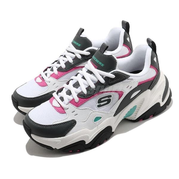 Skechers 老爹鞋 Stamina V2-The Rise Up 女鞋 黑 白 增高 厚底 運動 休閒鞋 【ACS】 149510WGPK