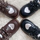 娃娃鞋 19年秋冬新lolita原創【小桃柚】小皮鞋搭扣小皮鞋平底圓頭娃娃鞋 免運 維多