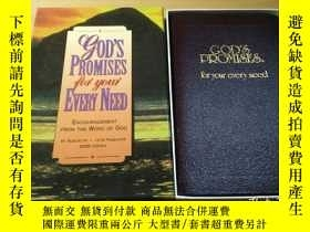 二手書博民逛書店英文原版《God s罕見Promises: For Your E