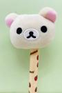 【震撼精品百貨】Rilakkuma San-X 拉拉熊懶懶熊~拉拉熊絨毛造型原子筆/中性筆-妹妹草莓#26033