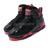Nike Wmns Air Jordan 7 Retro Patent Leather 黑 橘 紫 籃球鞋 女鞋 喬丹 7代【PUMP306】 313358-006