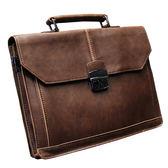 降價優惠兩天-公事包手提單肩包男士休閒包正韓側背包潮流包複古箱型