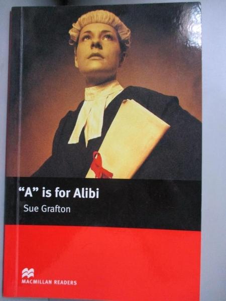 【書寶二手書T9/原文小說_LHF】a is for Alibi Intermediate_Sue Grafton
