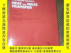 二手書博民逛書店INTERNATIONAL罕見JOURNAL OF HEAT AND MASS TRANSFER.Volume.1