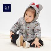 Gap 女嬰兒 Disney迪士尼系列米妮連帽長袖外套 473983-灰白色