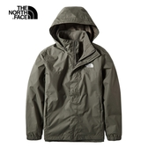 The North Face 男 防水透氣衝鋒外套 墨綠 NF0A49F7TY1【GO WILD】