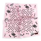 CLATHAS愛心手提包印花純綿帕巾(粉紅色)989265-4