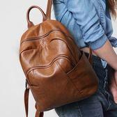 那馳後背包女2018新款潮流韓版百搭大容量書包旅游休閒軟皮背包女