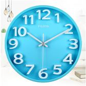 立體創意12英寸靜音鐘錶糖果色立體掛鐘客廳掛錶石英鐘現代鐘錶    韓小姐