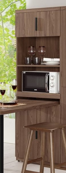 【森可家居】諾艾爾6尺高收納櫃 (不含邊桌) 7CM404-5 餐櫃 廚房櫃 碗盤碟櫃 木紋 工業風