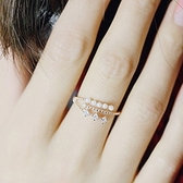 戒指 925純銀 鑲鑽-環繞珍珠生日情人節禮物女開口戒3色73dv1【時尚巴黎】