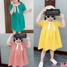 熱賣兒童洋裝 童裝2021新款夏裝學院風連身裙兒童短袖公主裙女童寶寶童裝5319【618 狂歡】