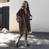 毛呢外套女中長款韓版新款秋冬學生寬鬆流行赫本小個加厚呢子大衣  LM々樂買精品