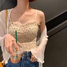 法式碎花小吊帶背心女夏季設計感小眾甜辣妹外穿抹胸短款打底上衣