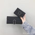 短款錢包女新款韓版超薄折疊小錢夾復古時尚多卡位長款手拿包【凱斯盾】