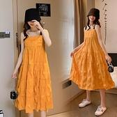 漂亮小媽咪 無袖 洋裝 【D3171】 傘狀 吊帶裙 蛋糕裙 長裙 孕婦裝 孕婦洋裝 長洋裝 []