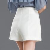 西裝褲 白色短褲女夏高腰a字顯瘦寬鬆寬管外穿黑色西裝休閒褲-Ballet朵朵