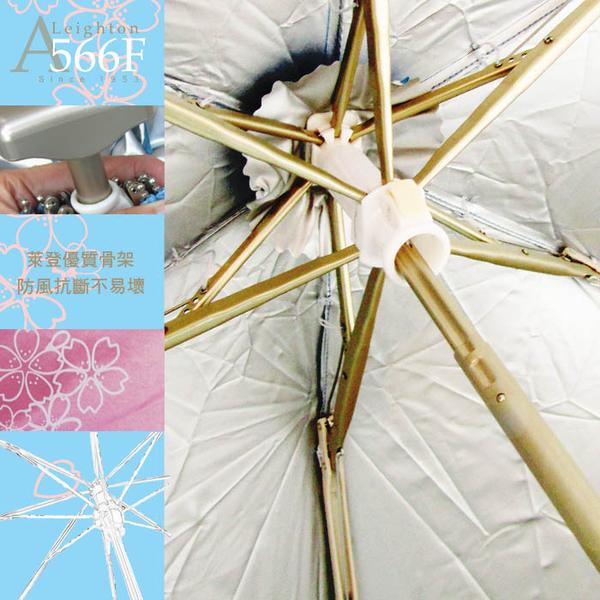 雨傘 陽傘 ☆萊登傘☆ 抗UV 輕傘 超短傘  超短五折傘 櫻花  銀膠 旅行傘 Leotern (深藍)