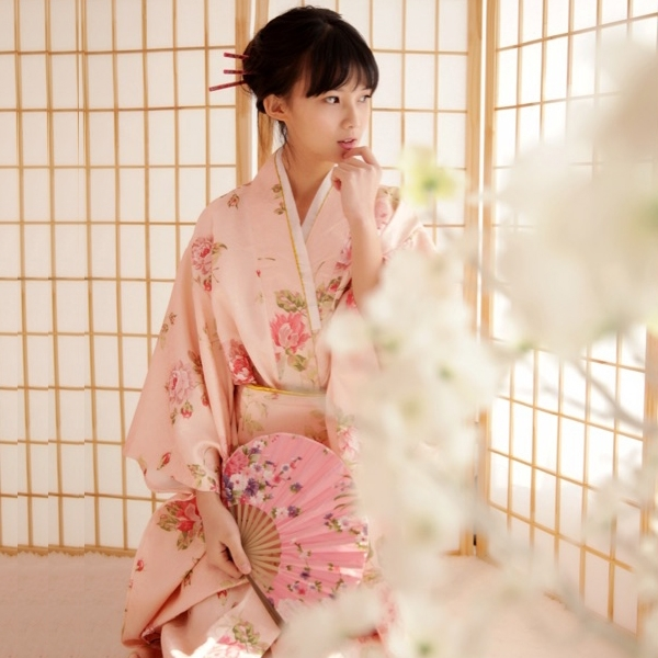 日本和服女日式改良浴袍長款cos寫真演出服 莎瓦迪卡