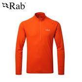 英國 RAB Pluse LS ZIP 透氣長袖排汗衣 男款 爆竹橘 #QBU77