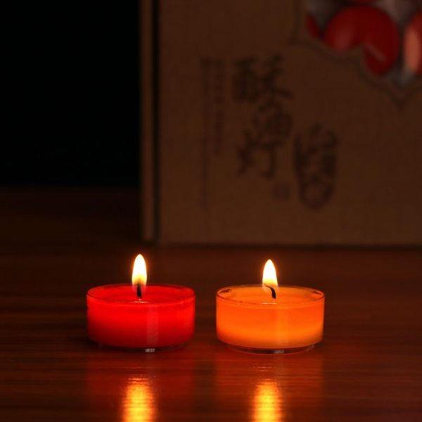 蠟燭佛教用品供燈酥油燈108粒4小時無煙供佛酥油燈香薰蠟燭