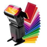 濾色片色溫片 機頂閃光燈濾色片套裝 色紙12色 通用 MK910閃燈濾色片