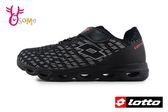 LOTTO樂得 義大利 大童 銀河編織風 機能鞋墊 網布運動鞋 慢跑鞋 M8614#黑色◆OSOME奧森童鞋