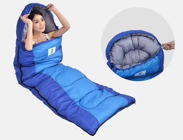 戶外單人露營便攜純棉旅行防踢被睡袋Ac8643『時尚玩家』