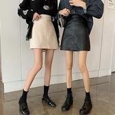小皮裙 秋冬季2020新款黑色半身裙女炸街裙子高腰顯瘦小小皮裙包臀a字短裙