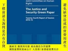 二手書博民逛書店The罕見Justice And Security Green Paper: House Of Lords Pap