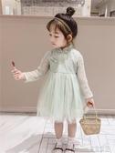 (快出)女童春季新款古裝漢服兒童超洋氣裙小女孩中國風春裝連身裙子