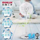 SANLUX台灣三洋 14吋微電腦遙控立扇 EF-1401DS