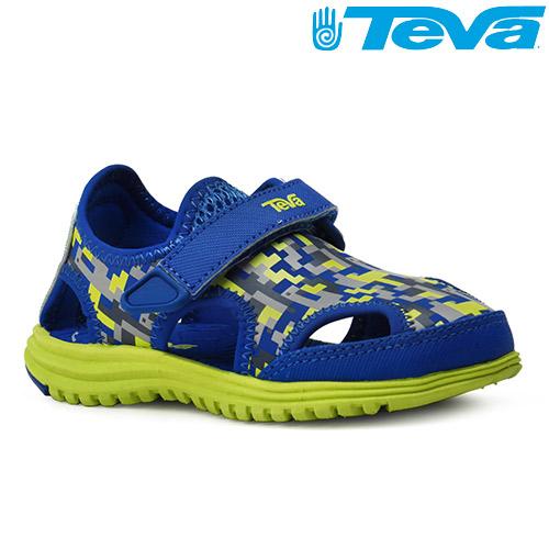 TEVA Kids兒童護趾水陸運動涼鞋Tidepool Sport - 馬賽克藍(小童幼童)