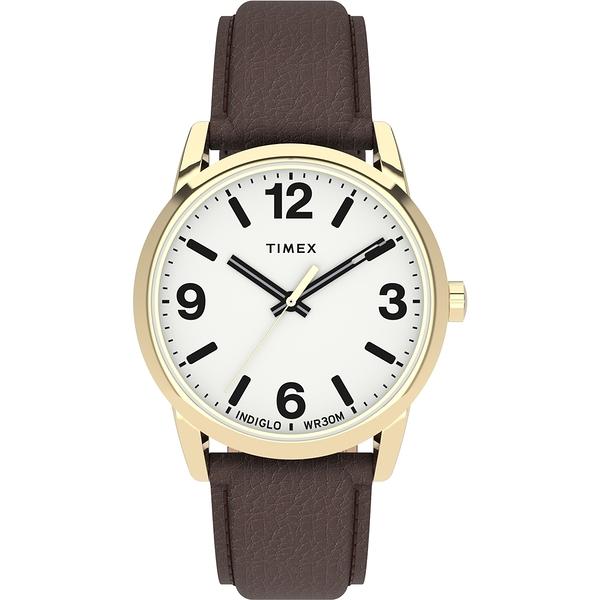 【TIMEX】Easy Reader系列 簡約風尚手錶(白咖 TXTW2U71500)