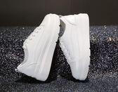 內增高鞋 百搭厚底小白鞋松糕鞋