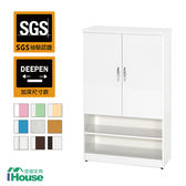 IHouse-零甲醛 環保塑鋼緩衝雙門開放鞋櫃(寬83深37高112)綠白