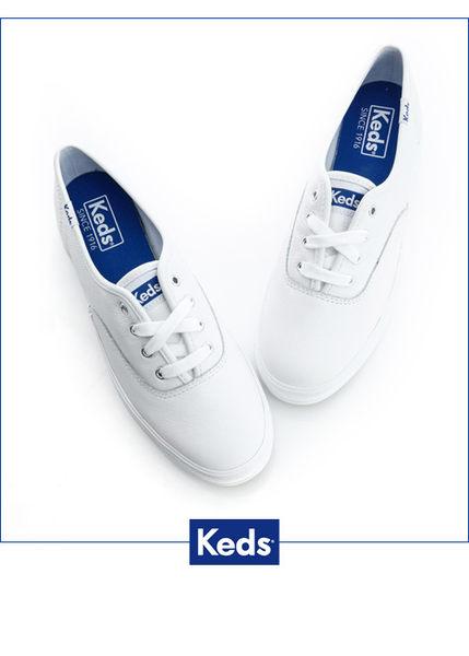 KEDS 經典厚底皮革休閒鞋 TRIPLE系列 白 W130020 女鞋