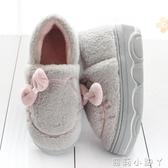 可愛包跟棉拖鞋女冬季松糕厚底增高跟保暖防滑毛毛鞋月子居家棉鞋 蘿莉新品